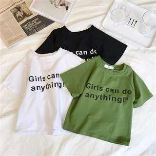 po girls can do anything feminism shirt