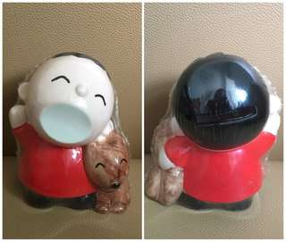 Sanrio Minna No Tabo 大口仔 人形陶瓷儲金箱 (4.5 吋高)