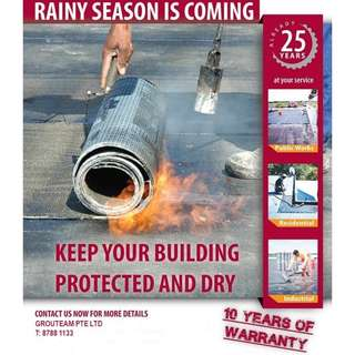 *10-YEAR WARRANTY* Waterproofing Water Leakage Specialist (price to be advised)