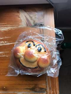 Palm size Japanese bread bun key chain accessory