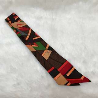 二手正品 Hermes 愛馬仕 Twilly 絲巾一條。星采精品。