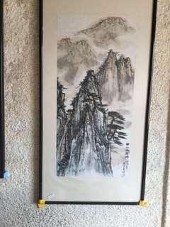 画家陈大章67x32cm 非卖品 Not For sale (Chinese painting