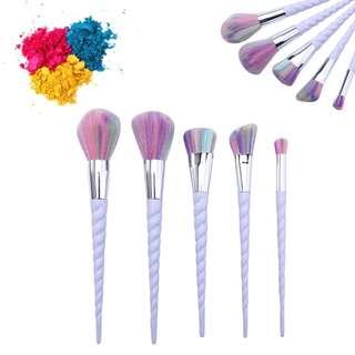 5Pcs Unicorn Make Up Brushes