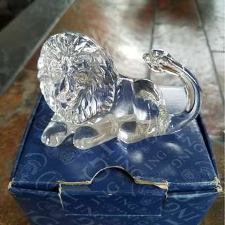 Crystal lion decoration (by Villeroy & Boch)