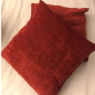 Red Cushion x2