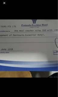 Buffet weekend voucher for two and 50 cash voucher