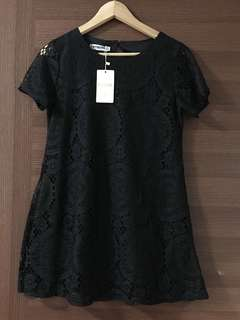 BNWT Girl Black Lace Dress