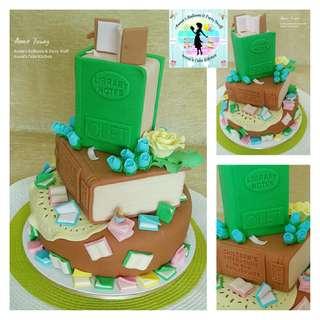 Booklover's Fondant Cake
