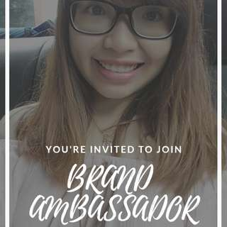 Brand Ambassador! No experience required!