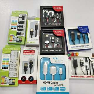 5 in 1 use cable / MHL to HDMI *9 pcs