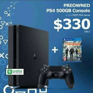 Playstation 4 plus one game