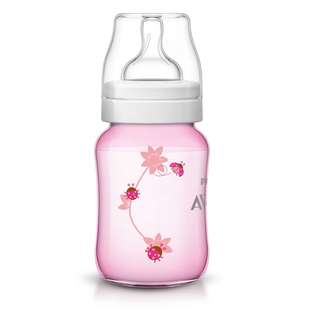 Avent Classic Plus Pink Flowers Bottle 9oz/260ml