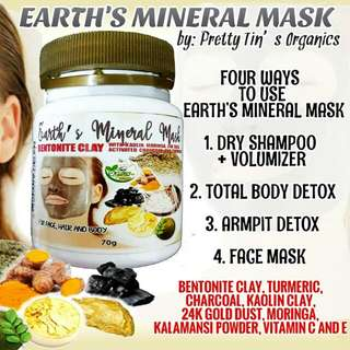 Organic Earth Mineral Mask