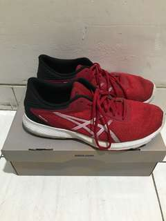 ASICS RED AND BLACK SHOES
