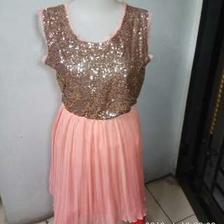 Dress selutut #horegajian