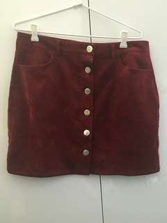 Button Cord Mini Skirt