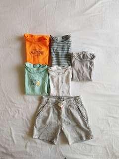 Bundle of Boy Carters Onesies + Shorts