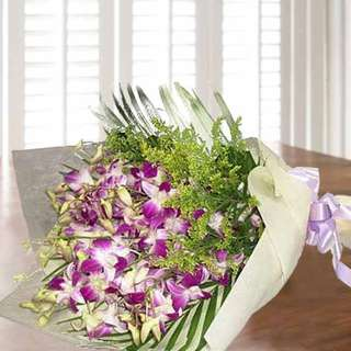 [FREE DELIVERY] Purple Orchid Hand-bouquet (001-OR)