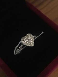 18k白金天然鑽石戒指🎁全新獎勵自己生日禮物女朋友紀念日特別推薦