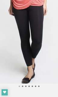 Maternity Full Legging Denim Black + Cotton Spandex Shorts Charcoal