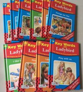 10 books  Key Words With Ladybirds