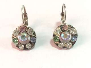 Round multicolor earring