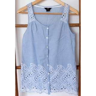Summer Top with Eyelet Details