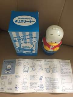 Sanrio Ahiru No Pekkle 鴨仔 1993 年 7 吋高人形卓上吸塵機 (全新未用過)