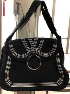 Tory burch leather handbag -Navy