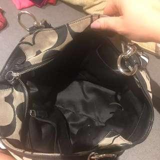 Coach purse black and grey