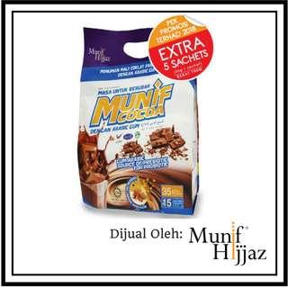 Munif Cocoa Arabic Gum Pouch Bag Xtra 5 Sachets