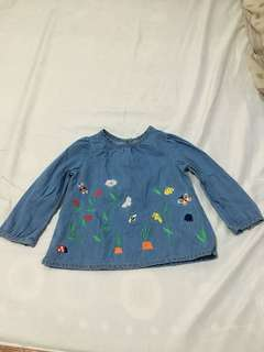 Mothercare long sleeve maong type