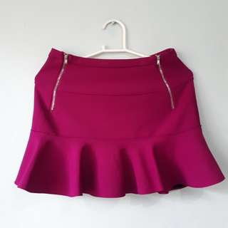 Beautiful Monster Fluted Hem Skirt
