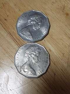 外幣兩隻共收30元