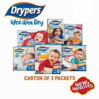 Drypers Wee Wee Tape Diapers