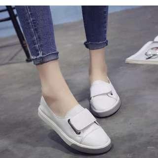 Korean flat heel velcro flats