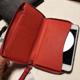 Authentic Coach Leather Phone Wrislet/Wallet