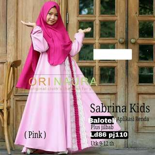 Dress anak perempuan usia 9-12 th