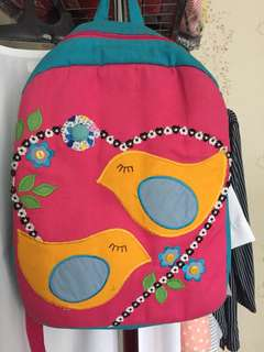 BIRD PINK BLUE BAG
