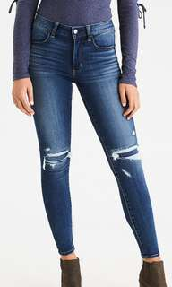 AE Denim High Rise Jegging (Size 0)