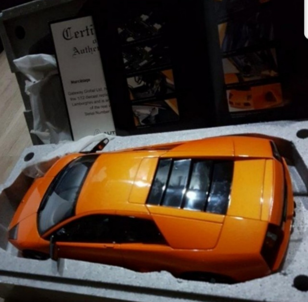 1 12 Lamborghini Murcielago Orange 1 12 Autoart Diecast Model Car