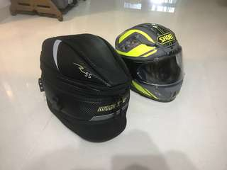 Road & rough carbon look tail / sling bag rr9014