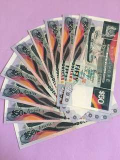Ship Series $50 Singapore Noted