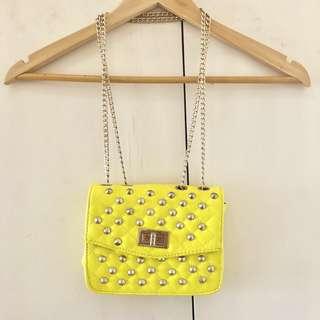 Yellow Metal String Bag
