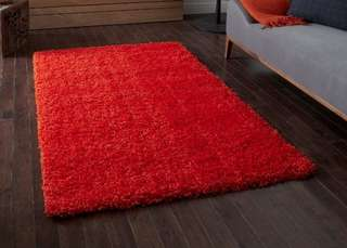 Ikea Hampen Rug Red High Pile