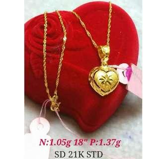 21K SAUDI GOLD NECKLACE (CHAIN & PENDANT) >>>><>>>>