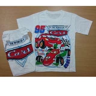 (NEW) Baju Setelan anak Cars Size L