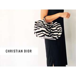 Christian Dior Soft Babe Calf Hair Zebra Print Bag