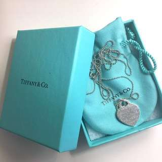 Tiffany heart tag necklace