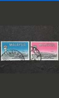 Malaysia 1965 International Airport Complete Set - 2v Used Stamps #2